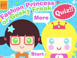 Play Princess or Geek Quiz.