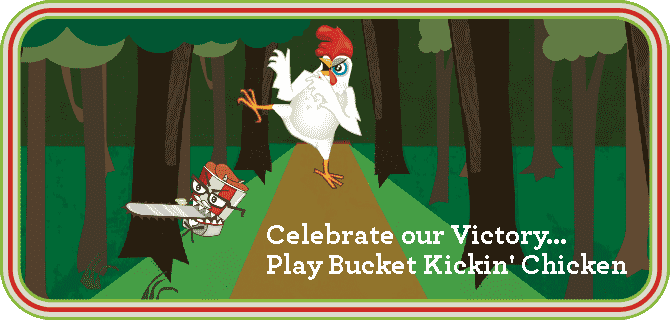 Play Bucket Kickin' Chicken