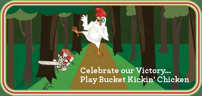 Play Bucket Kickin' Chicken