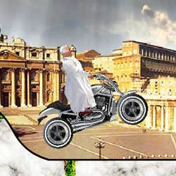 Play Pope, Ride that Bike