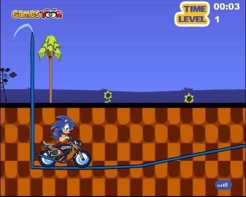 Play Super Sonic Extreme Biking