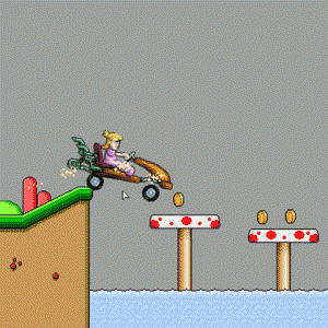 Play Peach Car Racing