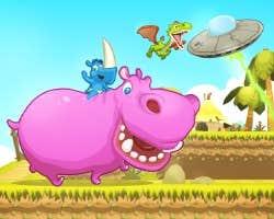 Play Rhino Rush Stampede