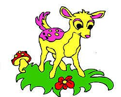 Play Cute Deer Coloring Game