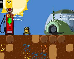 Play Robot miner diamond
