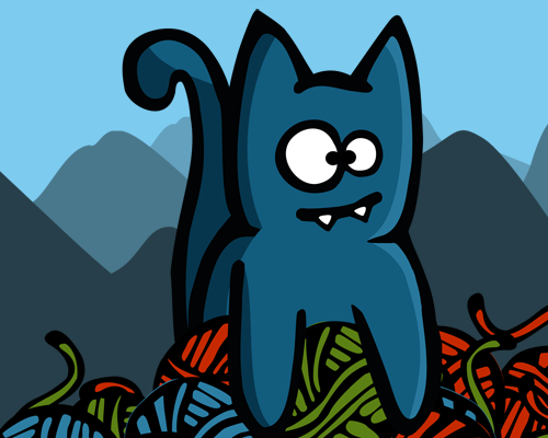Play Bronko Blue, the kitten copter