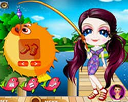 Play Fishing Girl Dress Up