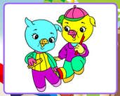Play Jolly Pigs Coloring