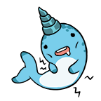 Narwhal stickers hungry