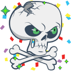 Skull angry shiny