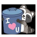 Raccoon iloveyou