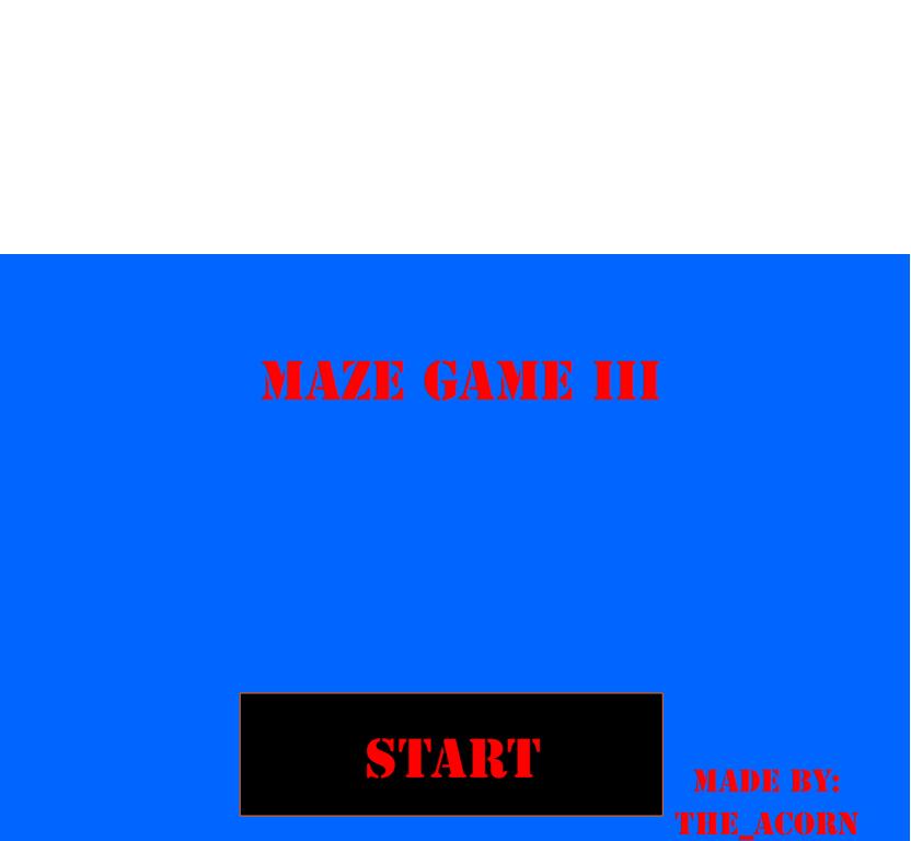 Play The Maze Gane III