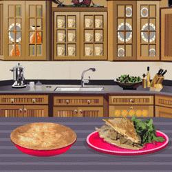 Play Make beef and mushroom pie