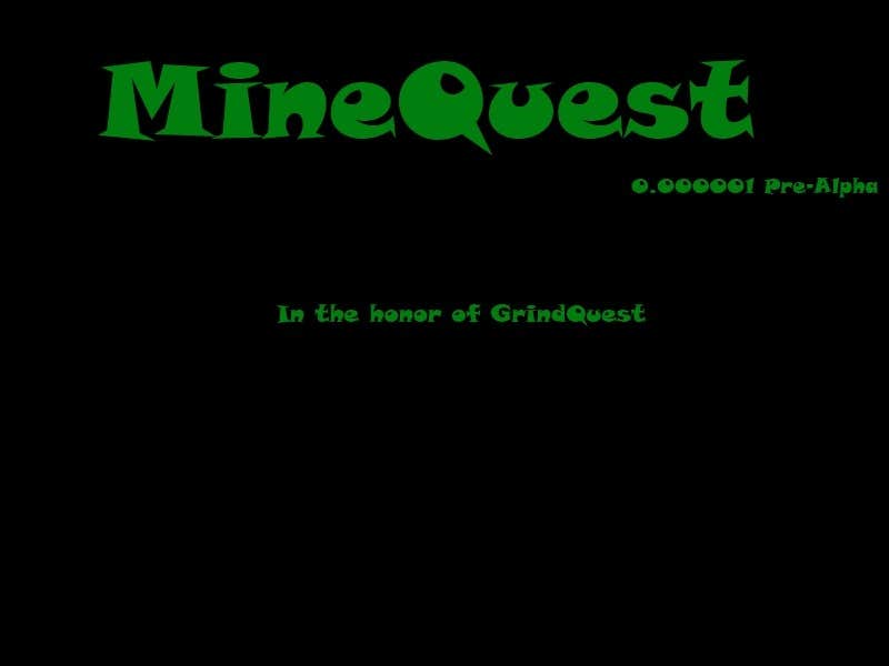 Play MineQuest 0.000001 Pre-Alpha