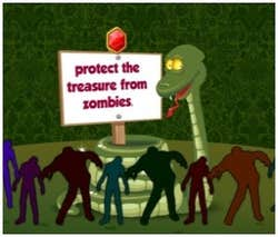Play Snake and Zombies: Treasure Protection