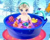 Play Baby Elsa Bath Time