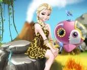 Play Elsa Time Travel Phreistoric Age