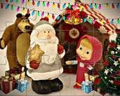Play Masha and the Bear Christmas Eve