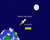 Play Reach the moon in 20 days