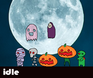 Play idle helloween(candy)