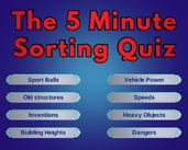 Play The 5 Minute Sorting Quiz